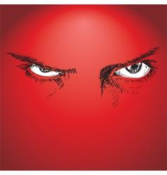 Evil eyes vector