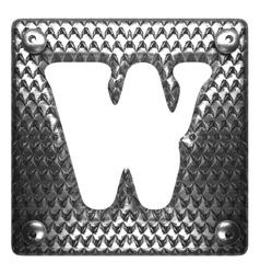 Metal figure w vector