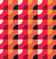 Retro geometric red pattern vector