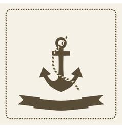 Anchor nautical theme vector