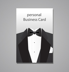 Personal business card vector