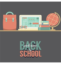 Back to school concept vector