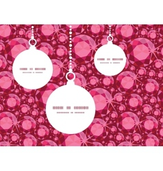 Ruby christmas ornaments silhouettes pattern frame vector