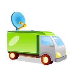 Icon antenna truck vector