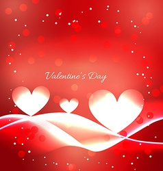Valentine day red background with heart vector