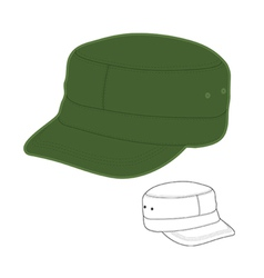 Military style cap vector