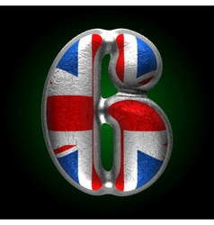 Great britain metal figure 6 vector