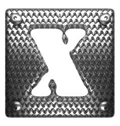 Metal figure x vector