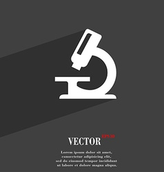 Microscope icon symbol flat modern web design with vector