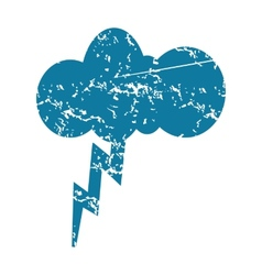 Thunderstorm grunge icon vector