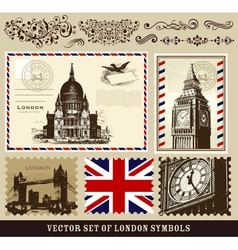 Set of london symbols vector