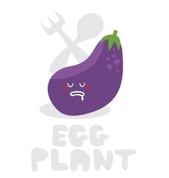Eggplant monster vector