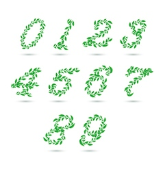 Leaf text number vector