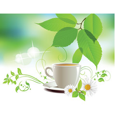 Cap of tea vector