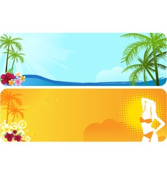 Two summer banners vector