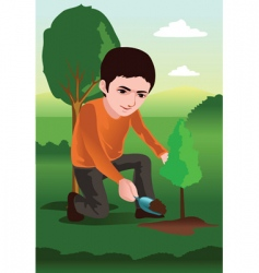 Plant a tree vector