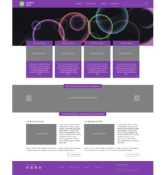 Website template modern flat style with banner vector