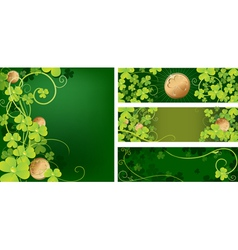 Clover and coins vector