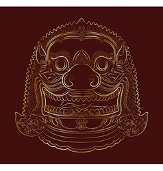 Thai demon - lion vector