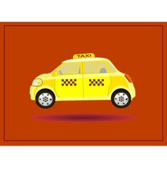Icons taxi card advertising vector