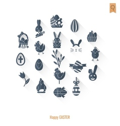 Set of the easter icons vector