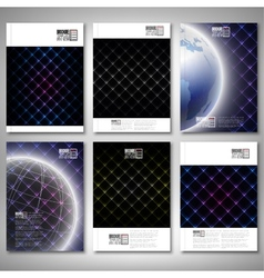 Abstract neon light black textures brochure flyer vector
