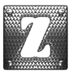 Metal figure z vector