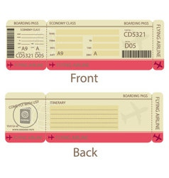 Boarding pass design template vector
