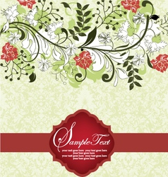 Floral background invitation card vector