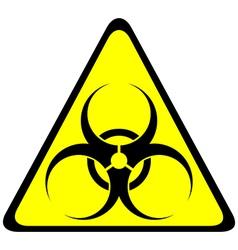 Triangle symbol biohazard vector