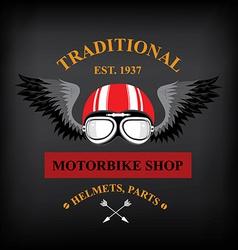 Motorbike shop vector