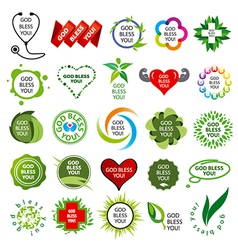 Biggest collection of logos natural health vector