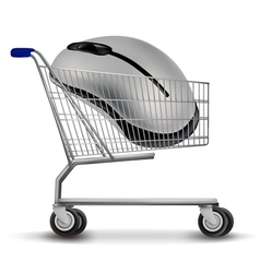 Shopping cart with mouse vector