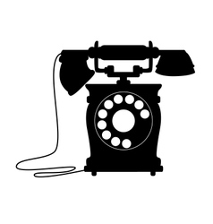 Old-fashioned dial up telephone vector