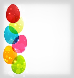 Easter colorful eggs with space for your text vector