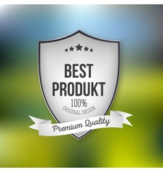 Best product shield isolated on blurred background vector