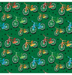 Bright bicycle pattern vector