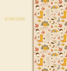 Autumn objects seasonal texture use as a greeting vector