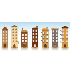 Seven buildings vector