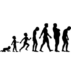 Ages of man vector