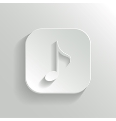 Note icon - white app button vector