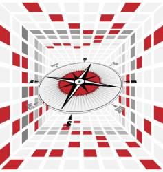 Compass scene vector
