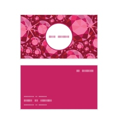 Ruby vertical round frame pattern business cards vector