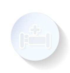 Hospital bed thin lines icon vector