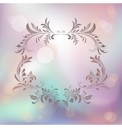 Abstract background with floral calligraphic frame vector