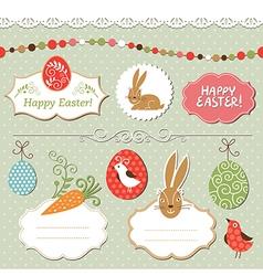 Easter set easter elements vector