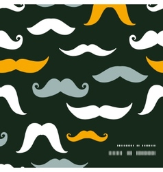 Fun silhouette mustaches frame corner pattern vector