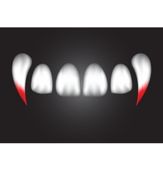 Vampire teeth witk bloodeps 10 vector