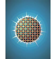 Glowing pattern sphere vector