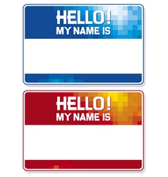 Hello my name is card vector
